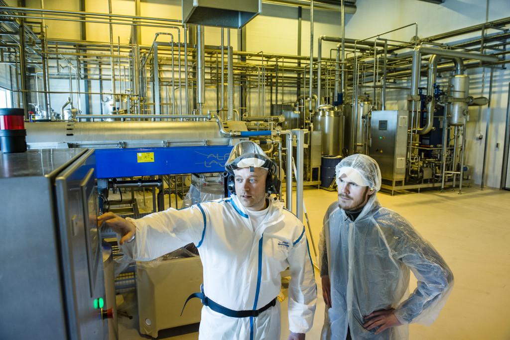 Anlegget som benyttes for produksjon av Kvalvik Bait